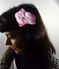 Pince cheveux fleur orchidée rose perle pinup rétro vintage glamour sexy