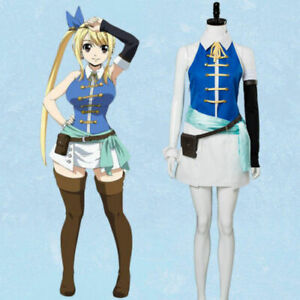 Fairy Tail 3rd Lucy Heartfilia Cosplay Costume Complete Full Set Uniform Dress
