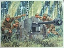 ORIGINAL WW2 MILITARY ILLUSTRATION ART PAINTING WWII PANZER, TANK, PAK 38 COVER