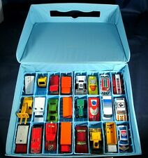 Matchbox Superfast Car Lot With Lesney Carry Case Lot Of 24 Vintage Cars Trucks