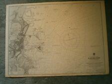 Vintage Admiralty Chart 3140 GUERNSEY - SAINT PETER PORT 1909 edn