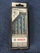 Bosch 4 Piece Robust Line Multi Construction Drill Bit Set. 2607010522
