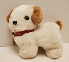 EDEN My Puppy Music Box White Brown Dog Plush Stuffed Animal Vintage