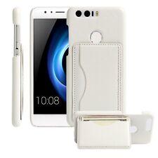 Funda Contra Cubierta con Soporte de tarjetas Blanco para Huawei Honor 8