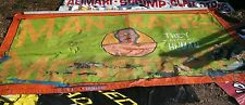 AUTHENTIC FREAK SIDESHOW BANNER OOAK,MAGIC,ODD,CIRCUS.4' X 8',HAND PAINTED,GAFF