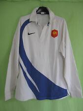 Maillot Rugby Equipe QUINZE de FRANCE Blanc Coton Nike Vintage FFR - L