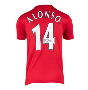 Xabi Alonso Signed Liverpool Shirt - 2005 Champions League Final, Number 14