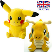 "Pokemon Pikachu Dragonite Plush Toy Teddy 8"" (20cm) - UK STOCK !! FAST&FREE!"