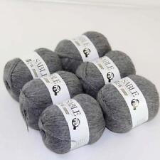 6Ballsx50g Pure Sable Cashmere Hand Knitwear Wool Shawls Soft Crochet Yarn 03