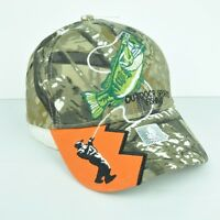Outdoor Sports Fishing Orange Camouflage Bass Fish Adjustable Hat Cap Curved