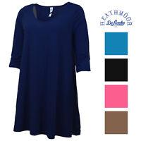 Heathmoor Womens 3/4 Sleeve Criss Cross Dress Tunic