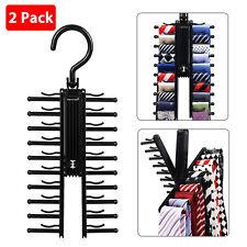 Adjustable Cross X Tie Rack Hanger Non-Slip Belt Compact Closet Holder Organizer