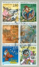 FRENCH POSTAGE -  VARIOUS GREETING 6 X 2,80 STAMPS 1993 LA POSTE FRANCE