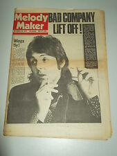 MELODY MAKER 1974 NOVEMBER 30 WINGS BAD COMPANY LYNARD SKYNARD HAWKIND
