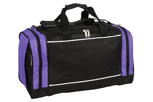 Ladies & Girls Black & Lilac Sports & Gym Holdall Bag - TRAVEL SPORT SCHOOL