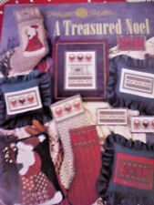 Cross Stitch Chart Mill Hill A Treasured Noel Christmas Stockings Santa Pillows