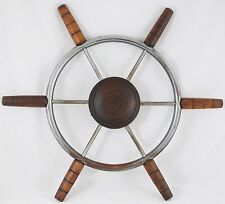 "Antique ChrisCraft Helm Wheel Ship wheel 22"" Mahogany grips1967 Cavalier Cutlass"