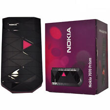 BNIB Nokia 7070 Prism 11MB Pink/Black Factory Unlocked 2G OEM Boxed
