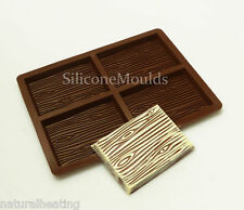 4 cell Medium WOOD GRAIN (87g) Chocolate Bar Mould Professional Silicone Mold