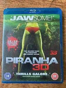Piranha 3D + 2D Blu-ray 2010 Killer Fish Horror Movie