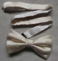 Vintage Bow Tie MENS Retro Dickie Bowtie Adjustable SILK IVORY M&S MARKS SPENCER