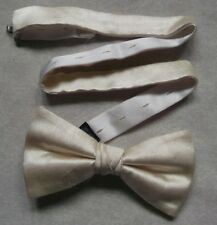 Vintage Bow Tie MENS Retro Dickie Bowtie Adjustable SILK IVORY M&S MARKS SPENCER
