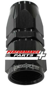 200 / 570 Series PTFE Teflon Straight Hose End -6AN Black AF201-06DBLK Aeroflow