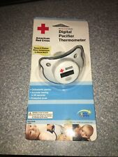 American Red Cross Y7053 Digital Pacifier Thermometer w/ Protective Cover New