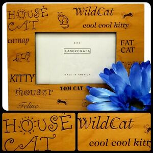 """Kitty Cat Cool Picture Frame 4""""x6"""" Kitty Tom Gift Collectors Pet Memories USA"""