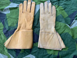 Vintage British Army WD Marked Dispatch Riders Gloves DR Gauntlets Sz 9 Leather