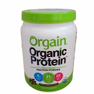 Orgain Organic Plant Based Protein Powder CHOCOLATE FUDGE 1.02 lb Gluten Free