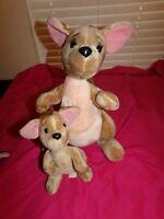 "Vintage The Disney Store Exclusive Kanga 16"" Plush with 9"" Roo - Winnie the Pooh"