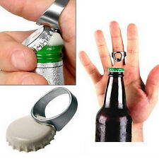 1X Beer Bottle Ring Open Opener Tool Stainless Steel Silver Finger Thumb Bar CIT
