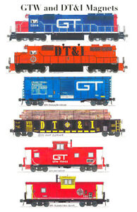 Grand Trunk Western and Detroit Toledo & Ironton 6 magnet set Andy Fletcher