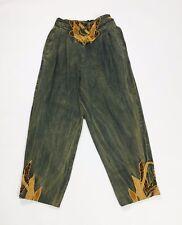 jeans donna usati w28 tg 42 verde carota usato affusolato retro vintage T2793