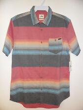 RUSTY Men's S/S Button Shirt BUGLE BOY - BLK - Large - NWT