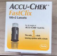 Accu-Chek Fastclix Lancets 100+2 ct. box. New, Sealed. Exp.2023-01