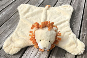 Baby Gund Comfy Cozy Snipper #058930 Lion Security Tummy Blanket Lovey Satin