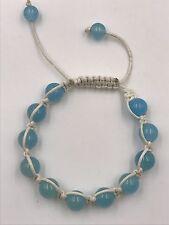 """Shamballa Beaded  Adjustable Bracelet Baby Blue 7"""" - 8.5"""" inches Long"""