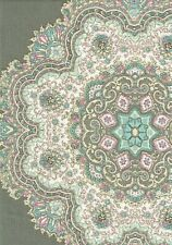 Home Accent Fabric Casablanca Opal Cotton Gray Pink Blue  Drapery Upholstery