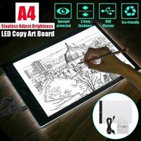 A4 USB LED Artist Tattoo Stencil Board Light Box Tracing Drawing Board Pad