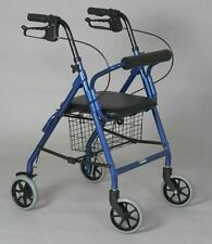 "Junior Rollator With Loop Brakes person 4' 9"" to 5' 2"" •Soft padded seat   baske"