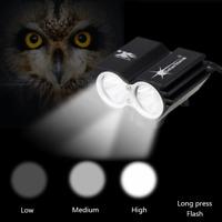 6000lm  XML 2x LED SolarStorm bici della bicicletta del faro lampada 4x18650