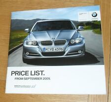 BMW 3 Series E90 Price List 2009 SE M Sport 330i 335i 318d 320d 325d 330d 335d