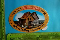 Alter Aufkleber Modellbau -Eisenbahn VOLLMER