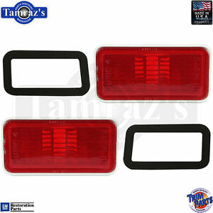 TP A482568-9 GM Rear Red Side Marker Light / Lamp w/gasket PAIR