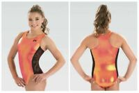 GK Elite Passion Fruit Gymnastics Leotard Child & Adult Sizes New With Tags