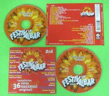 2 CD Compilation FESTIVALBAR 2001 rossa LUNAPOP VASCO ROSSI BOND  no mc lp (C11)