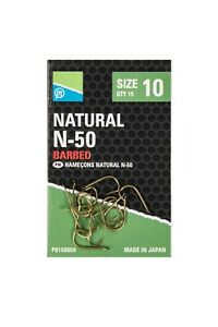 Preston Natural N50 Micro Barbed Hooks *5 Packs* (All Sizes) *New* Free Delivery
