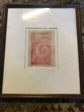 1979 Paul Bowen Mixed Media Sketch Drawing Art